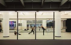 A rehearsal taking place in the Gund Dance Studio at the Idea Center. So energizing and such a beautiful space. I can't wait to use it. I see people of all ages dancing in the space now...