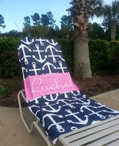 Personalized Beach Towel- Design your Own Beach Towel- Anchors on Etsy, $45.00