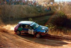 Gregoire De Mevius - Hervé Sauvage 11th Rally YPF Argentina 1991 (Mazda 323 GT-X)