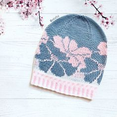 VK is the largest European social network with more than 100 million active users. Filet Crochet, Knit Crochet, Crochet Hats, Knitted Beret, Knit Beanie, Fair Isle Knitting Patterns, Motif Floral, Lace Knitting, Winter Hats