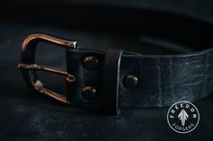 Handmade Veg-Tanned Leather Belts