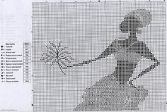 Solo Patrones Punto Cruz (pág. 146) | Aprender manualidades es facilisimo.com Cross Stitch Embroidery, Cross Stitch Patterns, African Artwork, Just Cross Stitch, Stitch 2, African Women, Needlepoint, Needlework, Canvas