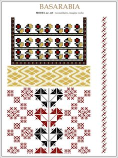 Semne Cusute: iie din BASARABIA - model (38) Beading Patterns, Knitting Patterns, Embroidery Motifs, String Art, Pixel Art, Cross Stitch Patterns, Projects To Try, Kids Rugs, Traditional
