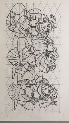 Line drawinghow to draw Phad Painting, Worli Painting, Saree Painting, Kerala Mural Painting, Kalamkari Painting, Madhubani Painting, Mysore Painting, Sketch Painting, Fabric Painting