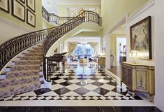 Image Detail For   Luxury Staircase With Floor Tiles In Living Room