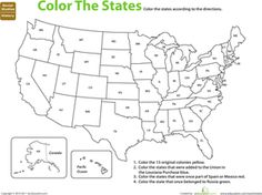 Fifth Grade History Geography Worksheets: U.S. Expansion: Color by History