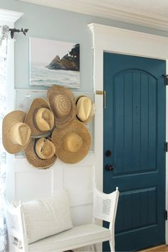 Home decor isn't just the furniture or what's on your table top. One dramatic change you can make is to paint your interior doors a color, light and bright or dark and rich. Enjoy this navy door fro  ~The Wicker House~
