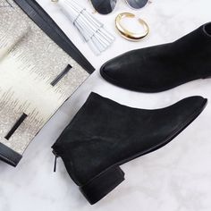 Black Distressed Pointed Ankle Boots Size 9.5 black distressed nubuck leather with pointed toes and back zip closure. Last photo shows same style in different color. Brand new in box. 03031611 Dolce Vita Shoes Ankle Boots & Booties