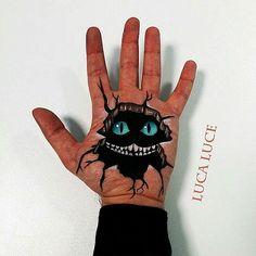 手の平をキャンバスに描かれた驚くほどリアルな3Dアート - K'conf