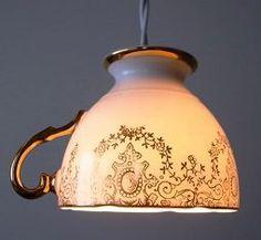 tea cup lamp.
