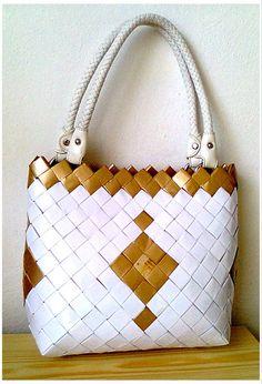Candy Bag kabelka - bílo zlatá