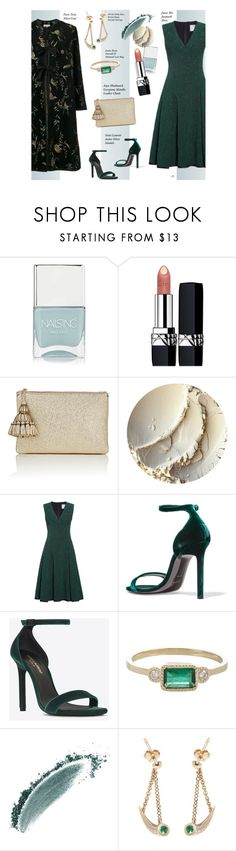 """Untitled #1330"" by louise-stuart ❤ liked on Polyvore featuring Nails Inc., Christian Dior, Anya Hindmarch, Jason Wu, Yves Saint Laurent, Jennie Kwon, AYA, Forte Forte and velvet"