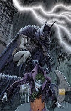 Batman vs The Joker A muscle bound, martial artist, tech savvy billionaire versus a skinny clown with mental issues.
