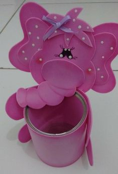 Diseño, decoracion, accesorio , papel, foamy, latas Foam Crafts, Easy Crafts, Diy And Crafts, Crafts For Kids, Pen Toppers, Soda Can Art, Flower Pot People, Craft Projects, Projects To Try