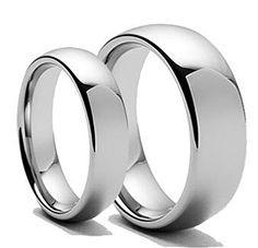 Free Laser Engraving Men & Women's 8MM/6MM Polished Shiny Domed Tungsten Carbide Wedding Band Ring Set tungsten jeweler http://www.amazon.com/dp/B0131AN0UC/ref=cm_sw_r_pi_dp_.Pszwb0004BM6