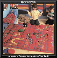 Snakes and Ladders playmat idea
