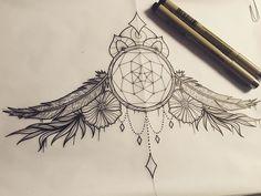 Dream catcher sternum design  #tattoo #tattooflash #tattoodesign #illustrated #illustrator #illustration #illustratorsoninstagram #instadrawing #instaillustration #ink #drawing #art #artistoninstagram #blackworkers #blackandwhite #inktober #inktober2015 #micron #pigmamicron #dreamcatcher #dreamcatchertattoo #feather #feathertattoo #flower #flowers #dot #dots #dotwork