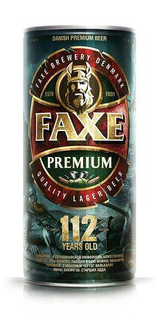 FAXE PREMIUM DANISH BEER ,112 YEARS OLD