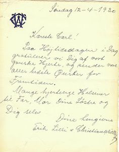 A Surprise Inside: Note from 1930