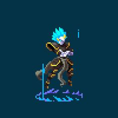 Zephyr by JerryPie (animated by Nate Kling) #pixelart #animation