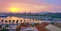 Because Malaga enjoys the warmest winters in Europe and is one of the oldest cities in the world with close to three thousand years of history. Malaga City, Cities, Old City, Sunsets, Art Photography, Old Things, Europe, History, World