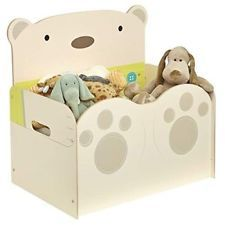 Kids Wooden Toy Box Bear Hug Children Clothes Storage Toddler Bedroom Furniture Ebay Amazon Sale Wooden Toy Boxes Kids Wooden Toys Kid Toy Storage