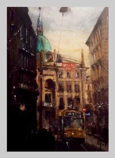 Kunstsamlingen   Artist: Pejhman Madani   Title: Budapest   Height: 76cm,  Width: 56cm   Find it at kunstsamlingen.com #kunstsamlingen #kunst #artcollection #art #painting #maleri #galleri #gallery #onlinegallery #onlinegalleri #kunstner #artist #danishartists #pejhmanmadani