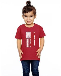 kayak american flag funny Toddler T-shirt
