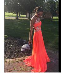 sexy prom dresses, halter prom dresses, beaded prom dresses, orange prom dresses, chiffon prom dresses, open back prom dresses, backless prom dresses. evening dresses, party dresses#SIMIBridal #promdresses