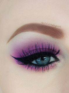 Purple eyeshadow #bold #eye #bright #makeup #eyes