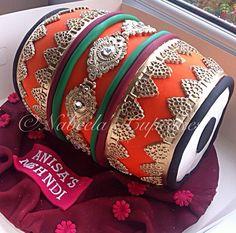 Dholki cake for mehndi!                                                                                                                                                                                 More