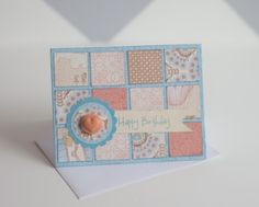 card by Ashley Horton using CTMH Balloon Ride paper.... (change sentiment) great use for leftover scraps!