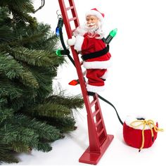 shop.crackerbarrel.com christmas whimsical super-climbing-santa 578462