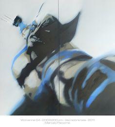 """Wolverine"" 200X200 cm oil on canvas"