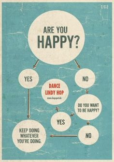 Are you happy? If not, dance Lindy Hop! :) #hopspot #lindyhop