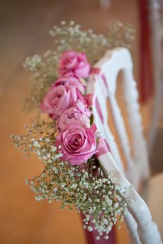 pink wedding | chair decore