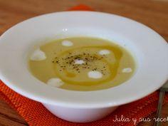 Crema de puerro y patatas