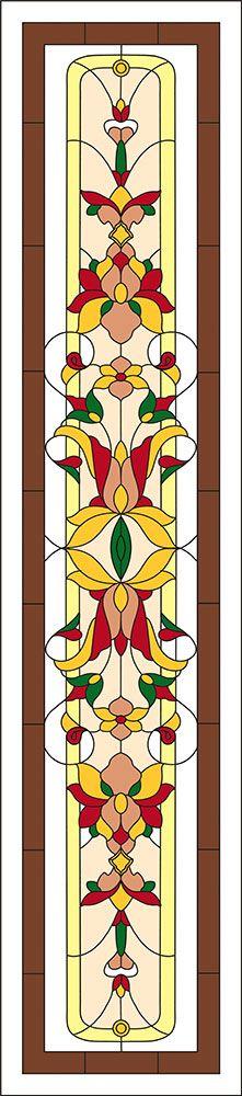 Цветочные мотивы   Витражи своими руками