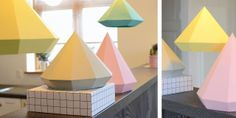Den Kreative Sky: Origami papirs lampe DIY