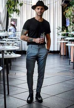 Early Summer Men's Outfit Inspiration Ga… - Lässige Herrenmode Street Style Men, Men Street, Cool Street Fashion, Street Styles, Smart Casual, Men Casual, Casual Styles, Men's Business Outfits, Mode Man