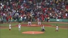 Watch Boston Marathon Bombing  Heroes Throw Out Tonights First Pitch
