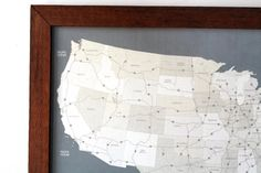 United States Map I Push Pin US Travel Map with by DegnodiNota, $110.00