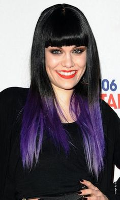Maybe just the very ends of my hair I might try. I don't think purple would be a match for my dark brown hair.