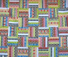 Zig Zag Rail Fence Quilt Pattern. Have I mentioned I LOVE bright ... : zig zag rail fence quilt pattern - Adamdwight.com