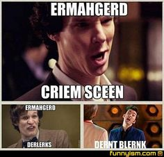 "Doctor Who and Sherlock!  It took me too long to figure out the last one was ""Don't Blink"" XD!"