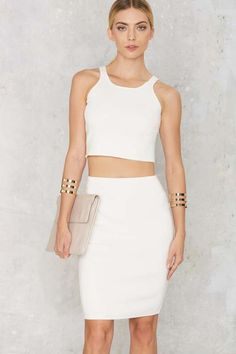 Body Conversation Pencil Skirt - White - What's New : Clothes