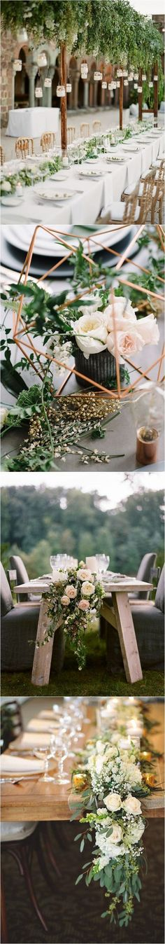 COLOR OF THE YEAR 2017 - Greenery Wedding Centerpiece Ideas