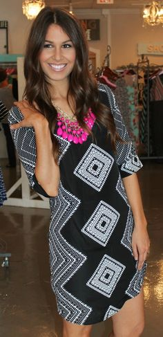 Dottie Couture Boutique - Diamond Print Tunic Dress, $52.00 (http://www.dottiecouture.com/copy-of-copy-of-diamond-print-tunic-dress/)