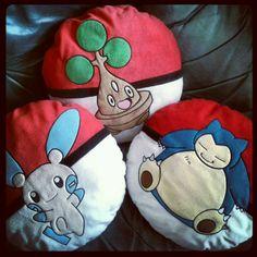 Pokemon cushions...every sofa needs them!