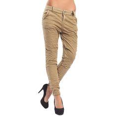 MARYLEY Jeans Boyfriend baggy con effetto felpa OCRA Art. B60Z/E01 Khaki Pants, Jeans, Fashion, Moda, Khakis, Fashion Styles, Fashion Illustrations, Denim, Trousers